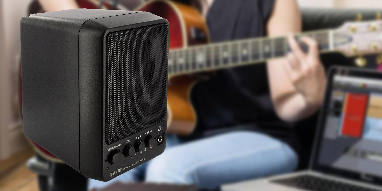Il modello Yamaha MS101III è uno speaker full-range da 10W con un ingresso microfonico frontale, 2 ingressi di linea sul retro e un'uscita link per collegare un secondo speaker.