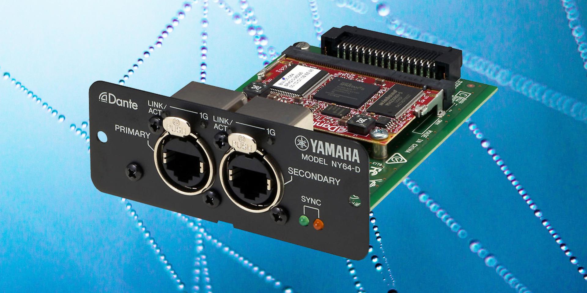 Scheda di espansione serie NY da utilizzare negli slot I/O dei mixer digitali Yamaha Serie TF.