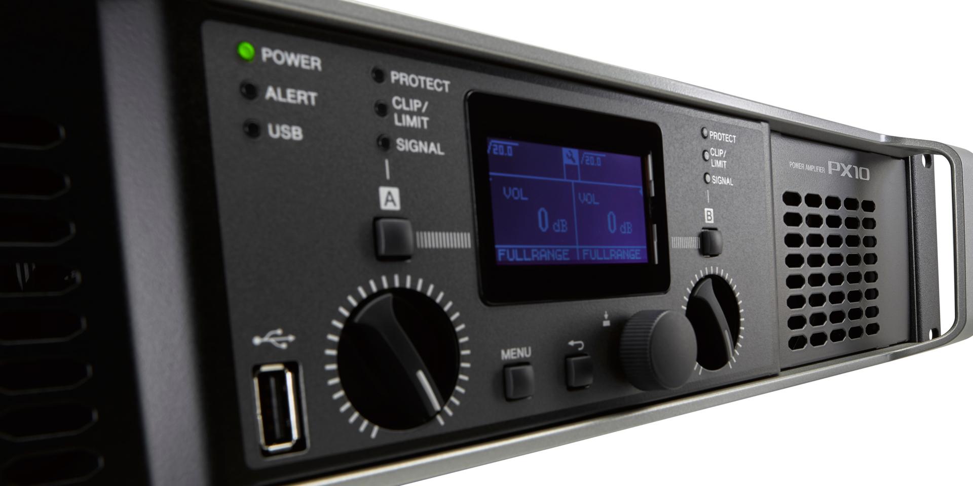 La Line-Up di amplificatori di potenza della serie Yamaha PX combina una raffinata DSP con un'elevata potenza di uscita per soddisfare una vasta gamma di applicazioni audio.