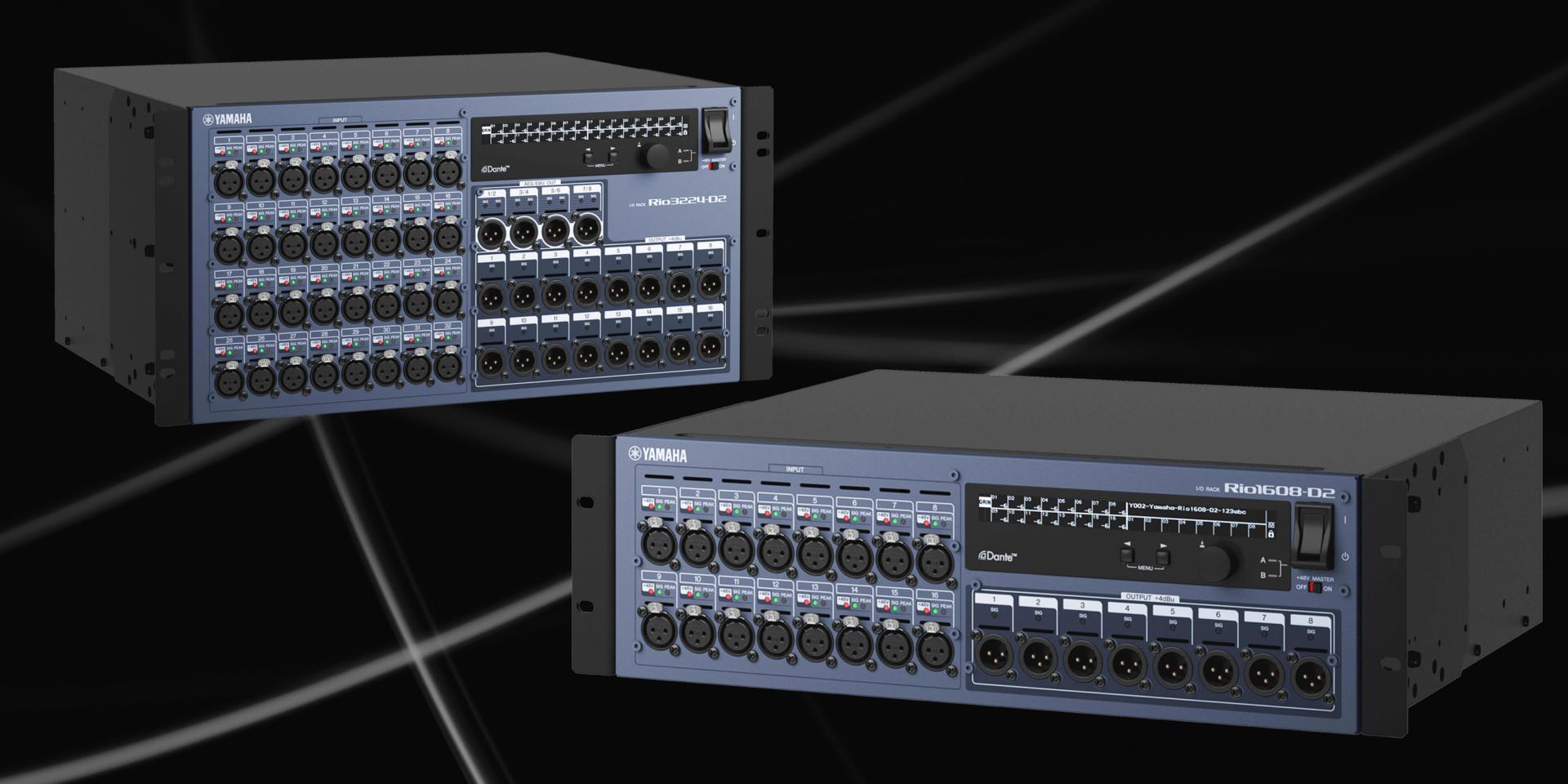 Nella nuova versione RIO-D2 i circuiti analogici sviluppati sulla serie precedente sono stati rivisti per offrire un suono che rappresenti la naturale evoluzione verso il nuovo standard RIVAGE PM series .