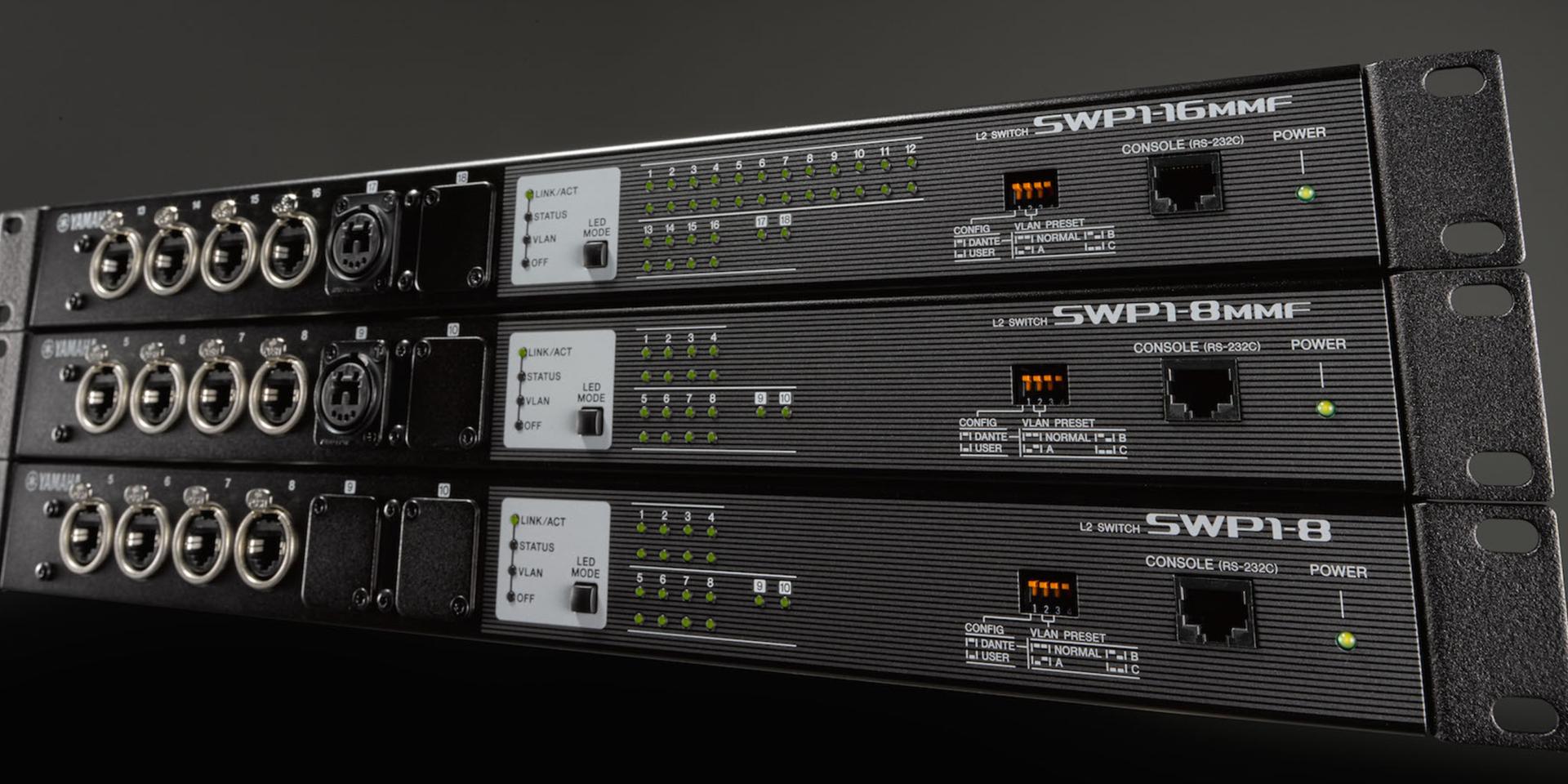 Gli switch di rete della serie SWP1 sono la soluzione che il mercato dell'Audio Pro stava aspettando. Offrendo una serie di preset già programmati e richiamabili tramite Dip Switch, l'installazione, il monitoraggio e il funzionamento della rete network Dante diventerà più semplice, immediata e sicura.