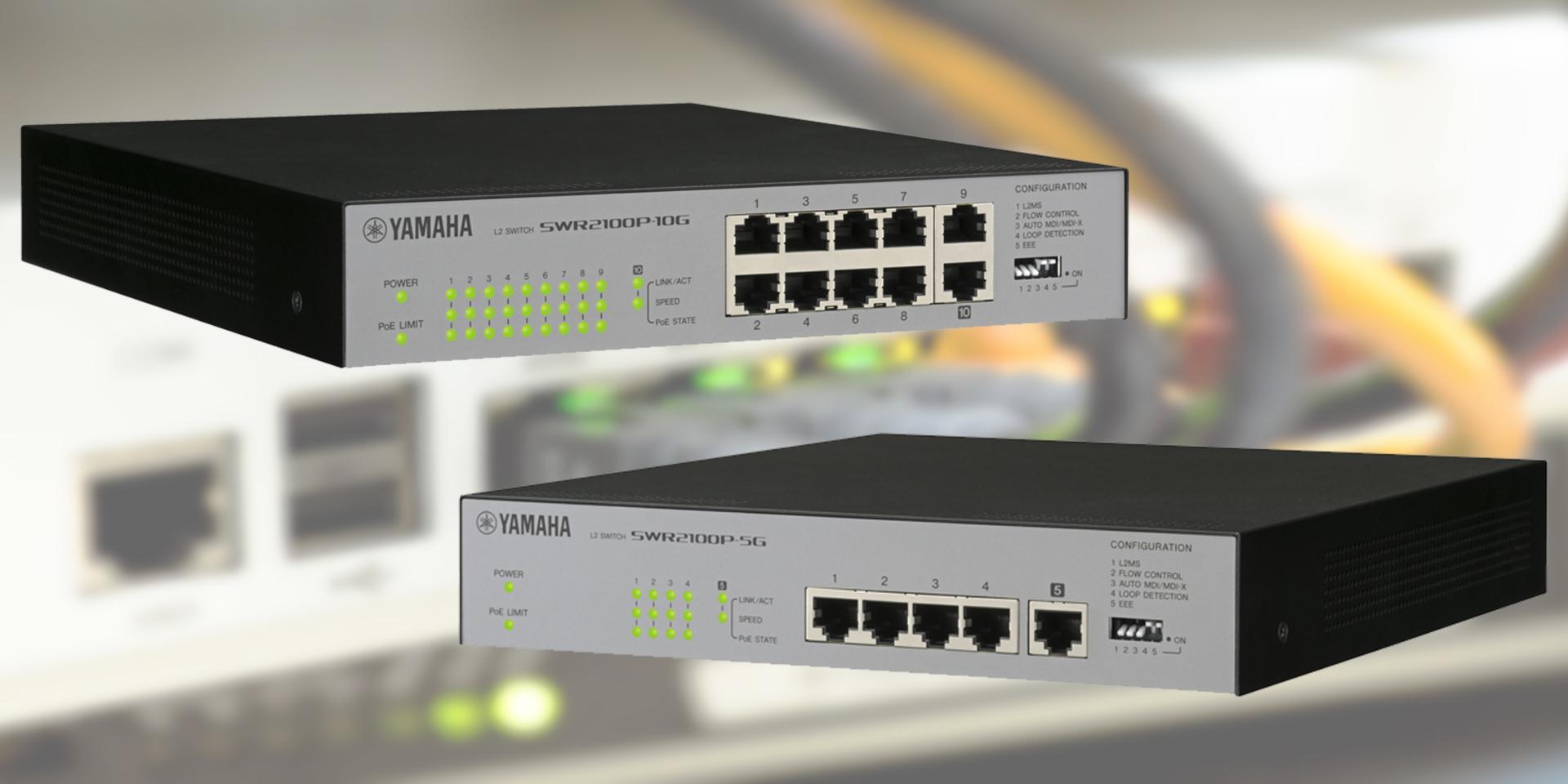 Gli switch Yamaha della serie SWR2100P non solo semplificano la progettazione dei sistemi di rete audio, ma ne consentono anche un installazione più intelligente e controllabile.