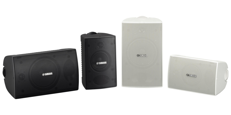 La scocca intelligente e compatta degli altoparlanti Yamaha Serie VS li rende ideali per ogni tipo di installazione commerciale. Questi speakers waterproof hanno un livello di resistenza IPX3 che ne consente l'installazione in esterno.
